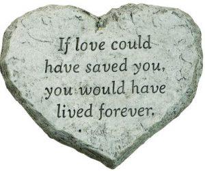 אם אהבה היתה יכולה להציל אותך, היית חי/יה לנצח